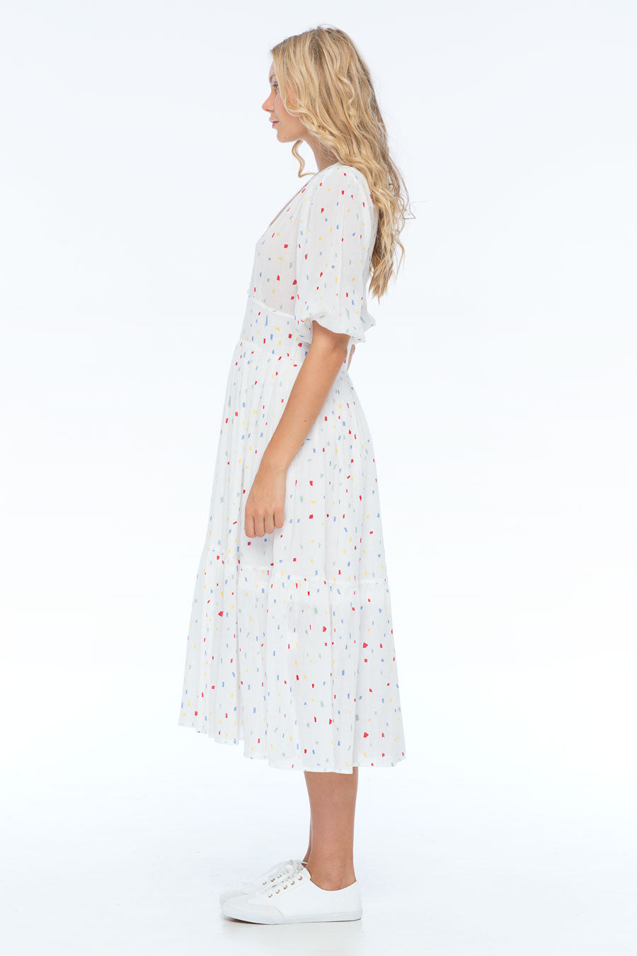 SAMIRA SHAPES MIDI DRESS