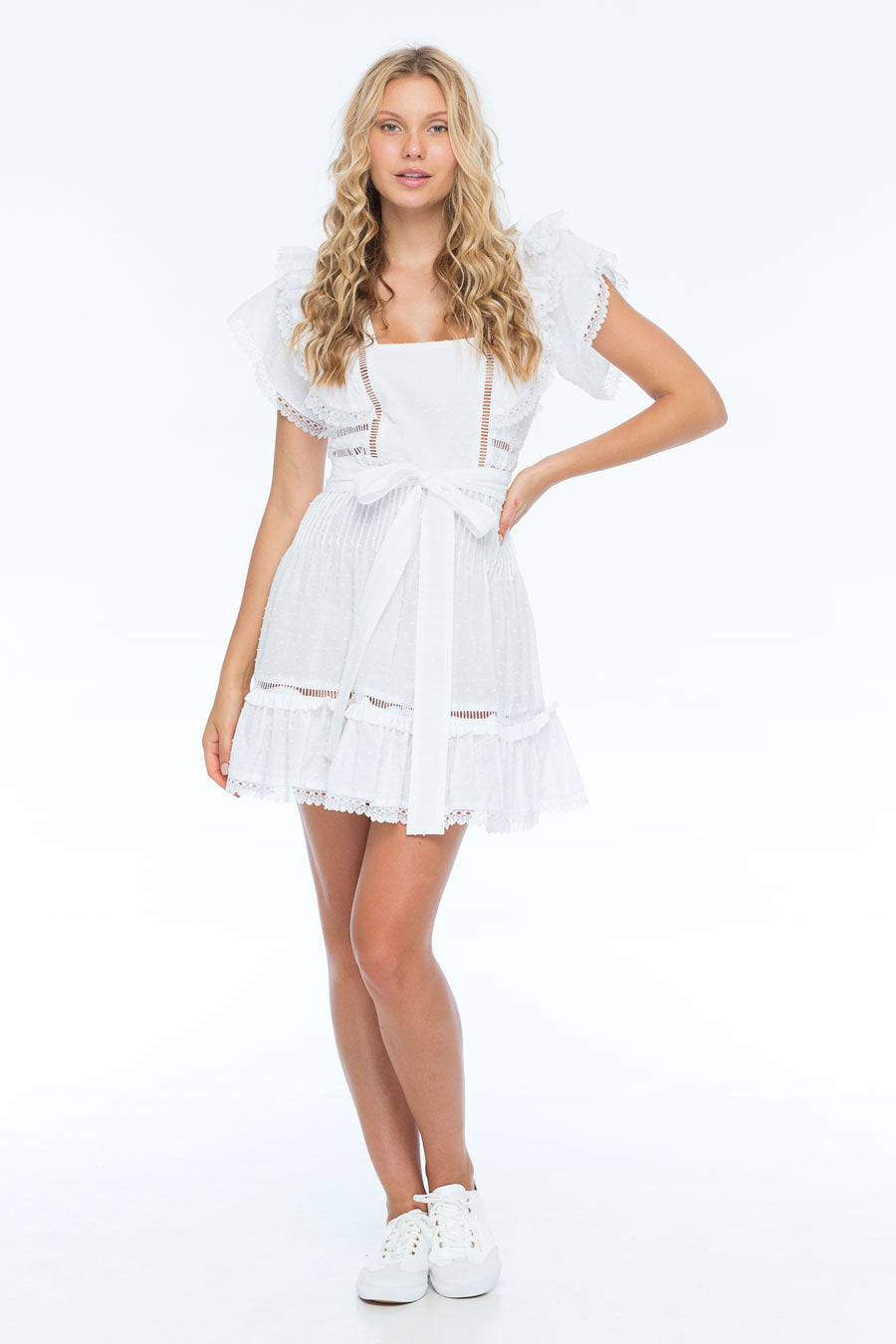 HARPER WOOD WHITE DRESS