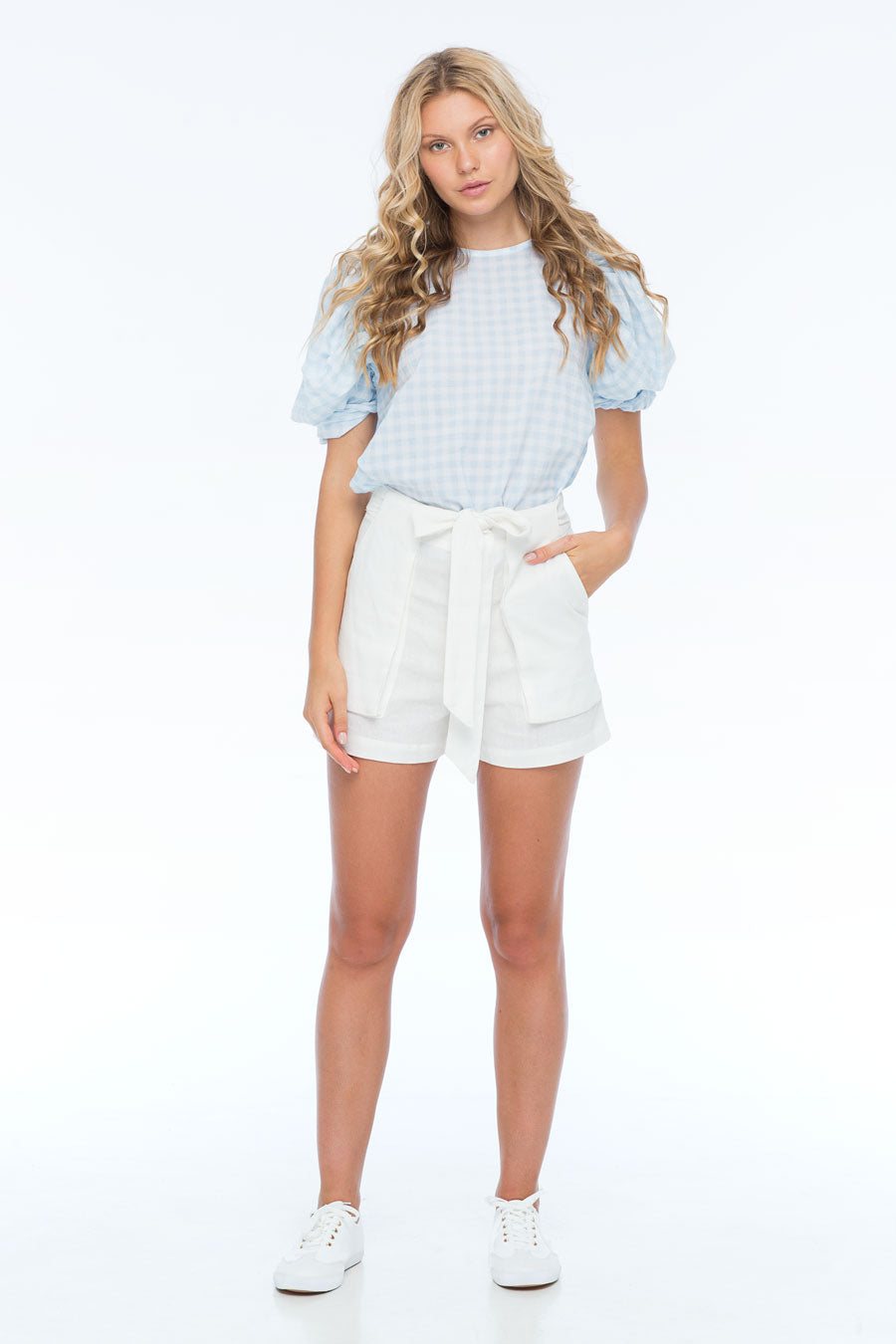 HAPPY FOURTH GINGHAM TOP