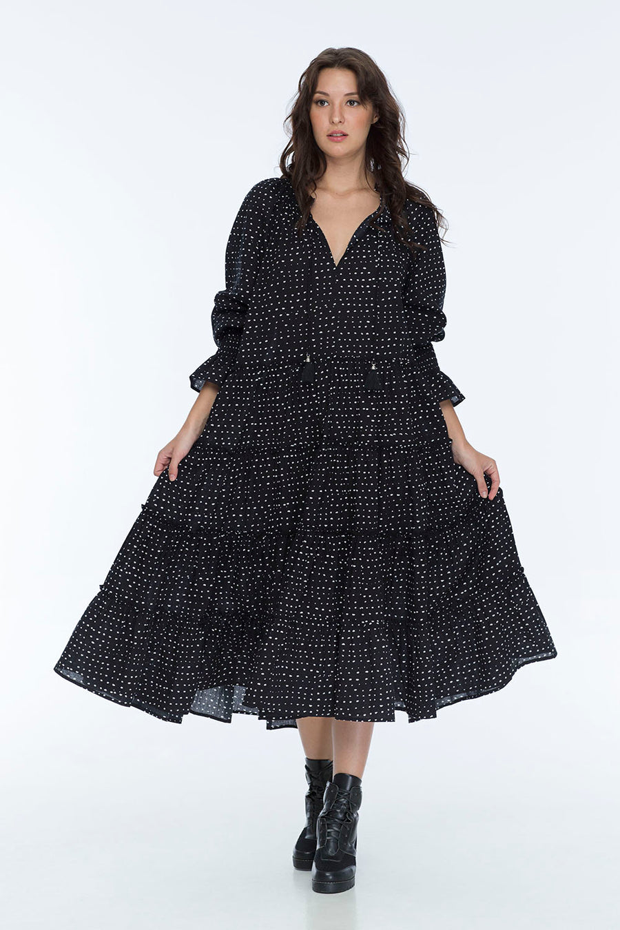 COCO CABANA DRESS RANDOM DOT NOIR