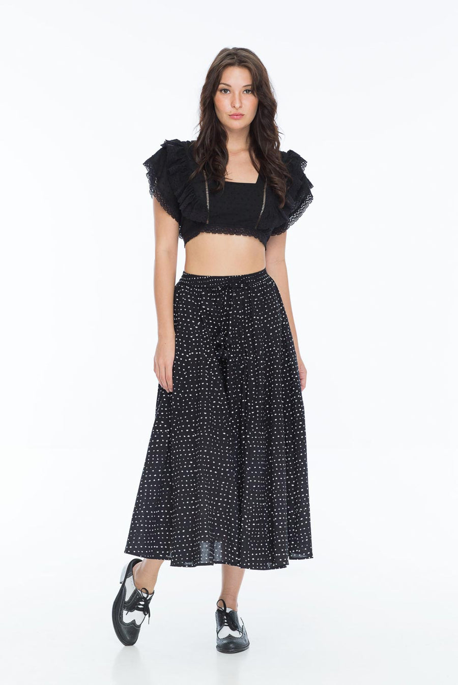 DOREEN SKIRT RANDOM DOT NOIR