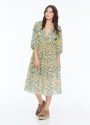 NICOLETTE DRESS VINE BUTTER