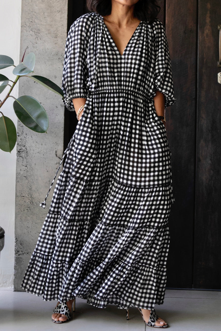 TWIGGY JANE MAXI DRESS GINGHAM