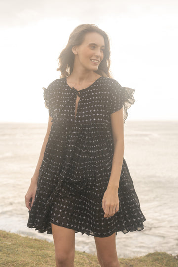 PIXIE BOO DRESS CROSS NOIR
