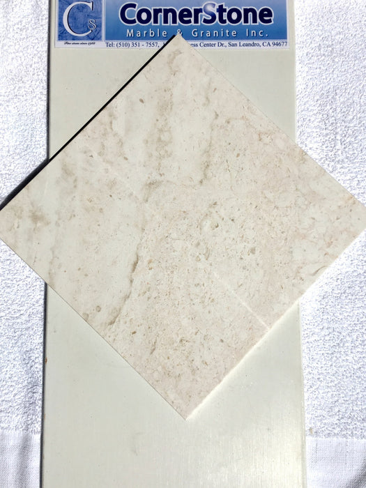 "French Vanilla Marble Tile 12"" x 12"""