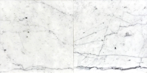 "White Carrara Marble Tile 12"" x 12"""