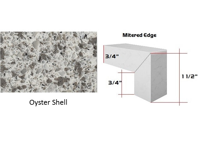 Oyster Shell Quartz Countertop