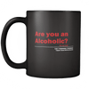Alcoholic Problems (Double Sided Black Mug)