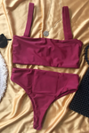 Wave Babe Swimwear Florence Mid High Rise Bottom 2019 New Bikinis Soft Red Wine Sangria High Cut Leg Cheeky Itsy Cut Best Quality Swim Brand Swimsuit Flatlay