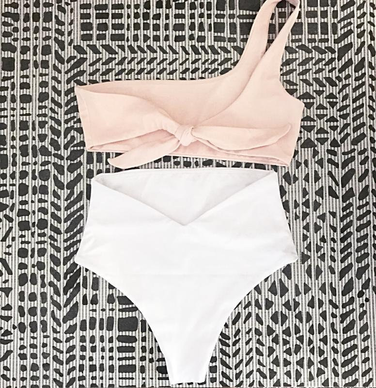 Monaco Bottom | New Shell White - Wave Babe Swimwear