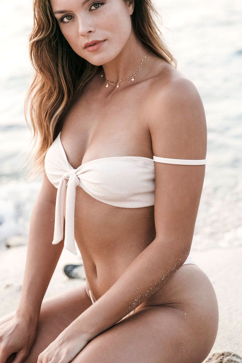 Lola Top | Cream - Wave Babe Swimwear