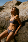 Wave Babe Swimwear Minimal Bottoms Moon Navy Blue Gray Grey Soft Double Strap Strappy Padded Cut Cheeky Scoop Neck Beach Swim Bikini Swimsuit Travel Style 2019 SS19 Best Top Quality Comfort Soft Brands Fashion Hawaii California Sporty New Trends