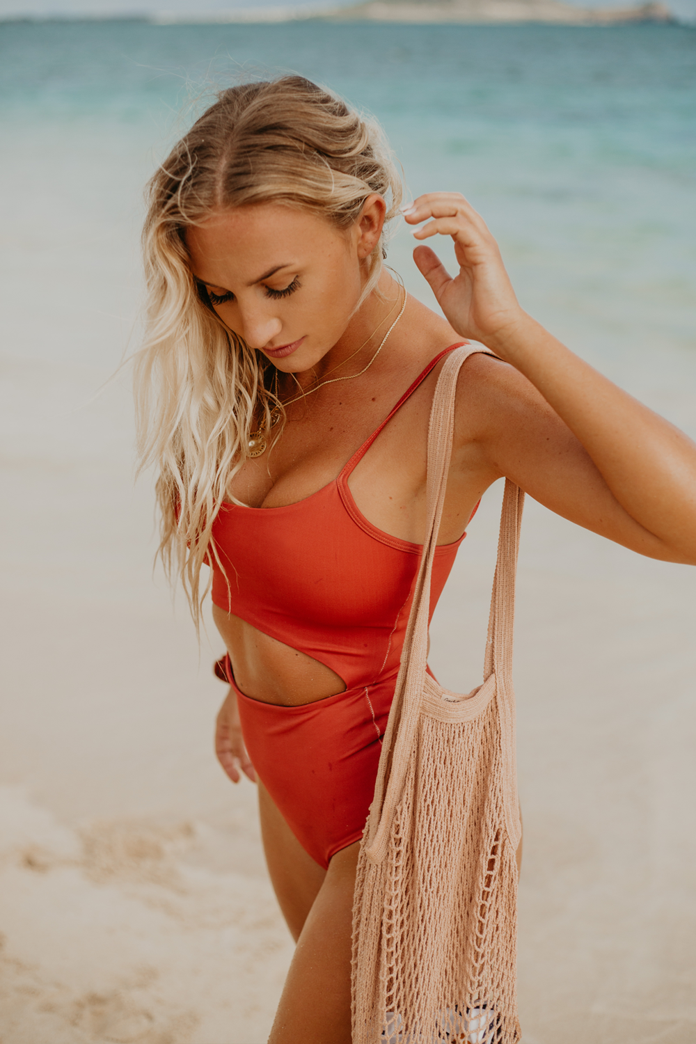 Wave Babe Swimwear Maya One Piece Minimal Bikinis Monokinis Spice Rust Red Cut Out Quality Durable Fabric 2019 Styles New Gorgeous Soft Pretty