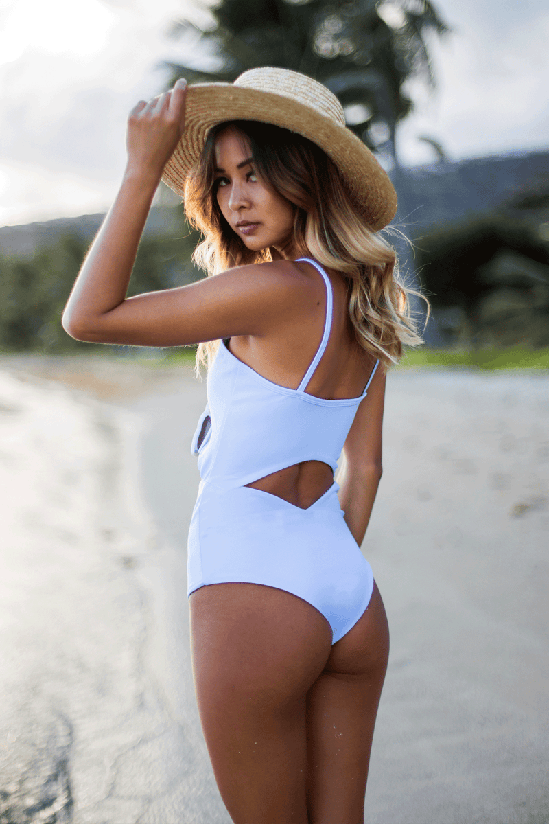 Maya | Mist Blue - Wave Babe Swimwear