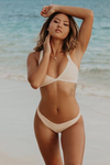 Wave Babe Swimwear Venice Triangle Top 2019 New Bikinis Nude Yellow Peach Support Adjustable Push-Up Straps Best Swim Brand Swimsuit