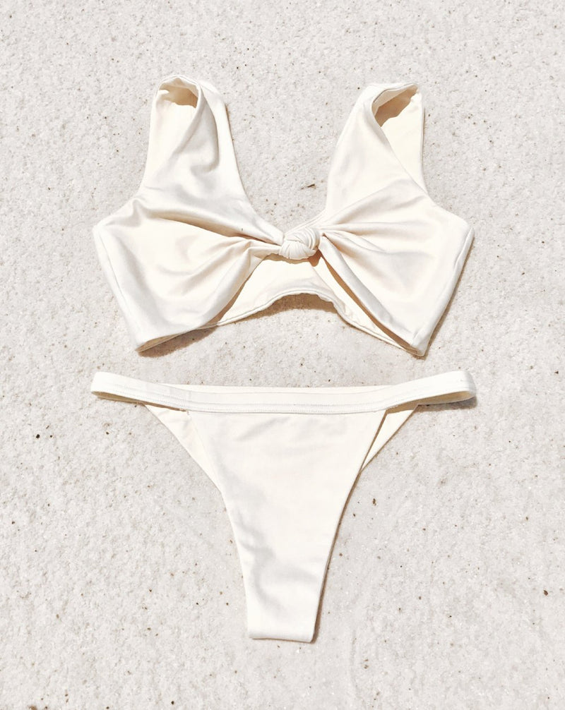 Havana Bottom | Soft Yellow Hibiscus - Wave Babe Swimwear