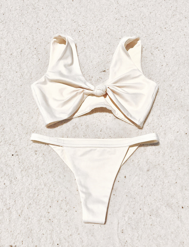 Havana Top | Soft Yellow Hibiscus - Wave Babe Swimwear