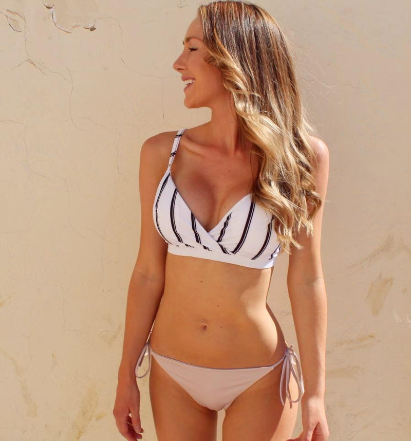 Santorini | Stripes & Cinnamon - Wave Babe Swimwear