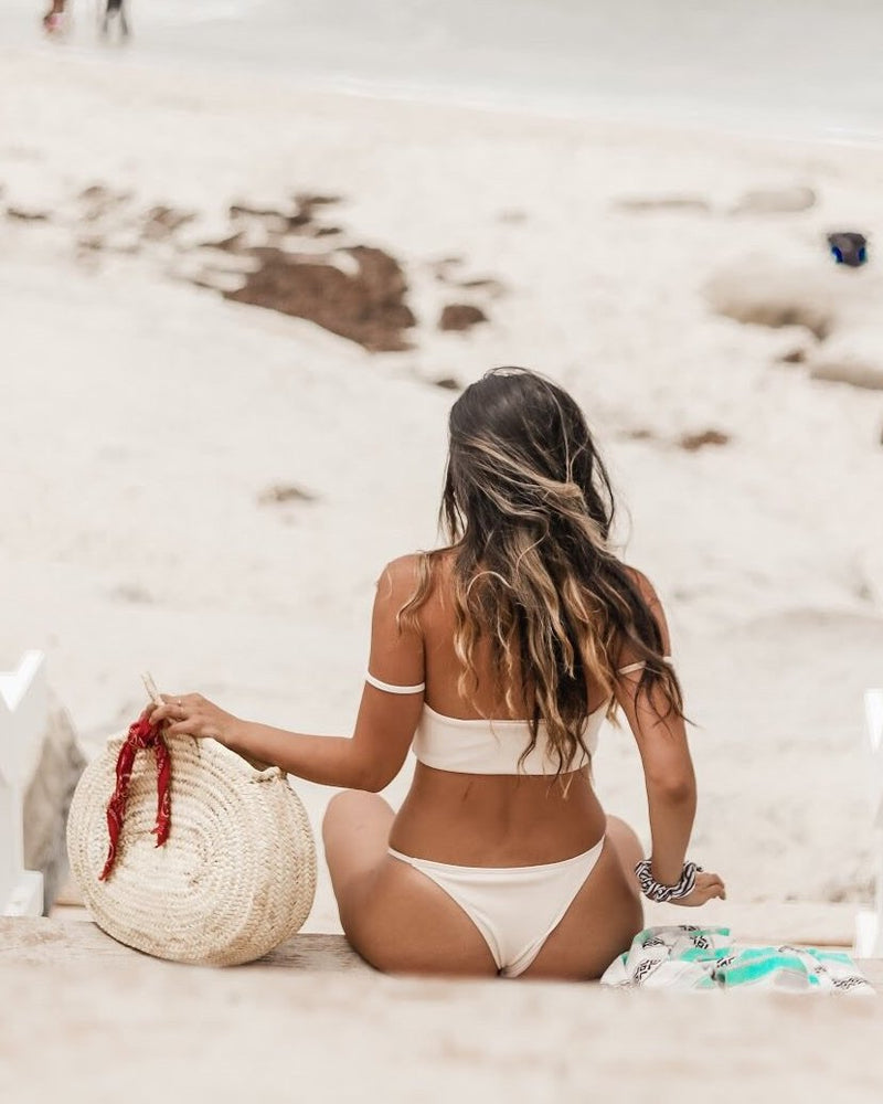 Lola Bottom | Cream - Wave Babe Swimwear