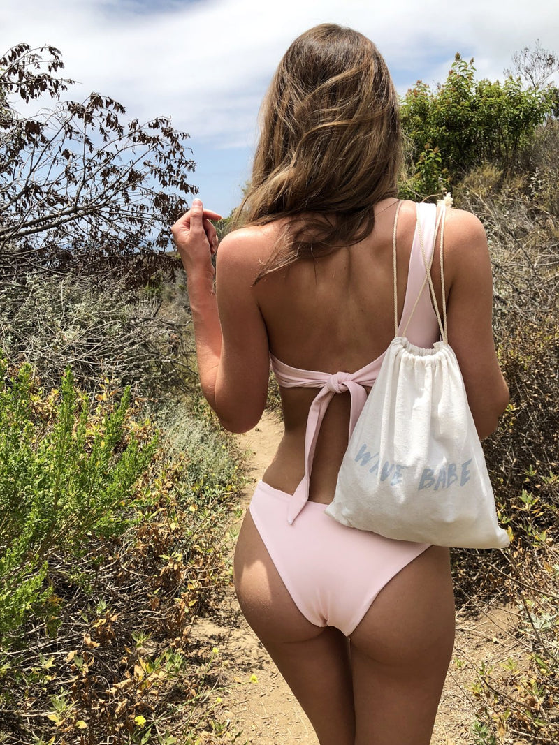 Carmella High Cut V Dip Peach Pink Sorbet Cheeky Coverage Bikini Bottoms 2018 Best Boutique Swimwear
