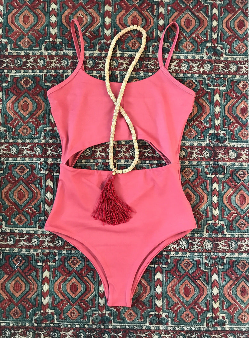 Maya Cut Out Matte Cheeky Sexy Monokini Supportive Luxe High Quality Fabric Best Small Swimwear Companies Local Love Cute Gorgeous Summer Style 2018 Scoop Open Back Boho Travel Bikinis Swimwear Spice Red