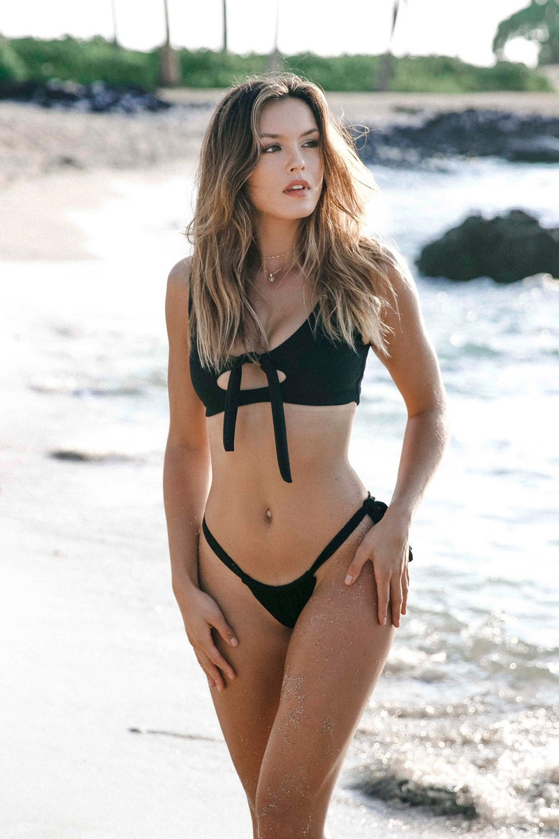 Ryder Bottom | Black - Wave Babe Swimwear