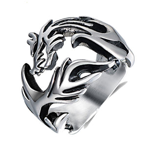 NEW ITEM - Stainless Steel Dragon Styled Ring