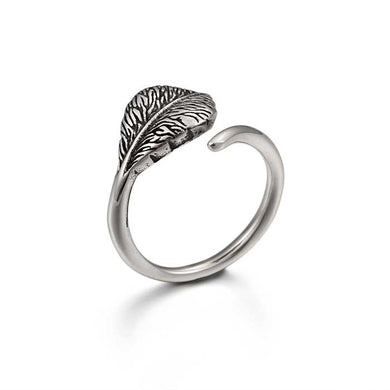 Stainless Steel Woman's Leaf wrap Ring