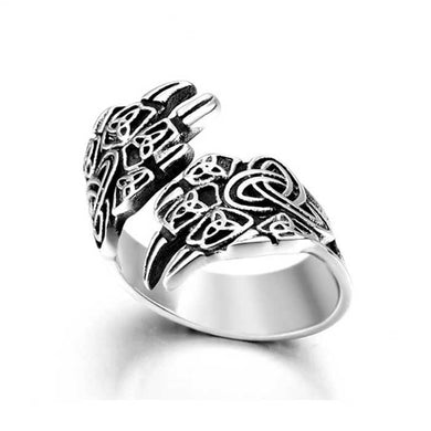 NEW ITEM - Stainless Steel Celtic Knot  Bear Claw Wrap