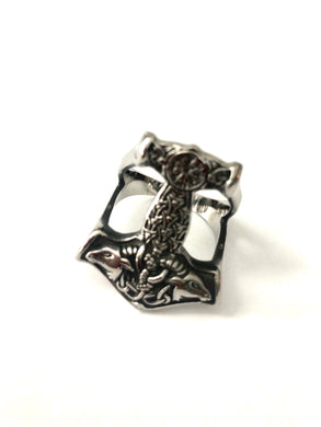 Thors Hammer Stainless Steel 316L Ring Sizes 7 - 13 NEW DESIGN 2020 - RAREBoutiques
