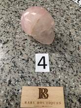 Rose Quartz  Natural Stone Skull