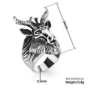 Stainless Steel Goat ring - Size 7 -13 - RAREBoutiques