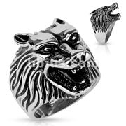 Wolf Head - Stainless Steel Ring 316L - RAREBoutiques