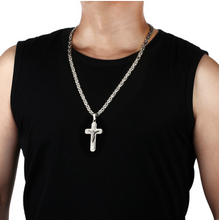 Stainless Steel Cross Necklace- Byzantine Chain - 2 styles - RAREBoutiques