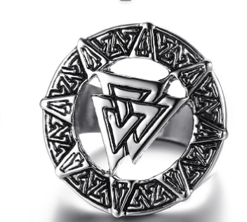 Nordic Valknut Stainless Steel Ring 316L - RAREBoutiques
