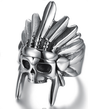 Indian Head Skull - Stainless Steel 316L - RAREBoutiques