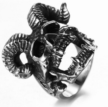 Skull Ram Stainless Steel Ring 316L - Sizes 7 -13 - RAREBoutiques