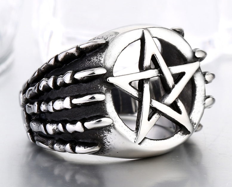 Stainless Steel 316L Pentagram with Dragon Claw - RAREBoutiques