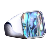 Mother of Pearl Stainless Steel Ring 316L