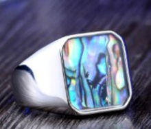 Mother of Pearl Stainless Steel Ring 316L - RAREBoutiques