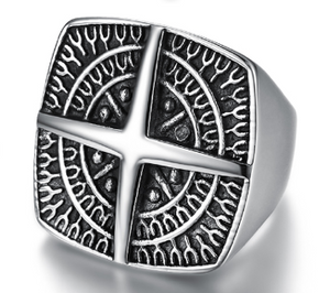 Nautical Mens Stainless Steel Ring 316L - RAREBoutiques