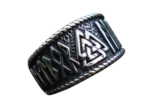 Nordic Runes Stainless Steel RIng 316L