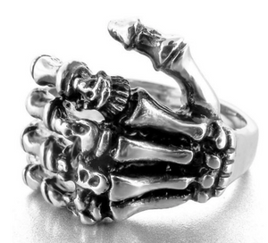 skeleton Hand Stainless Steel Ring 316L - RAREBoutiques