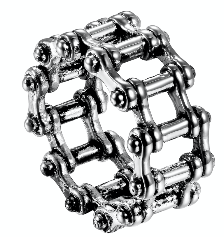 Bike Chain Style B - Stainless Steel Ring 316L - RAREBoutiques