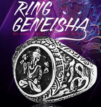 Ganesha Stainless Steel Ring 316L - RAREBoutiques