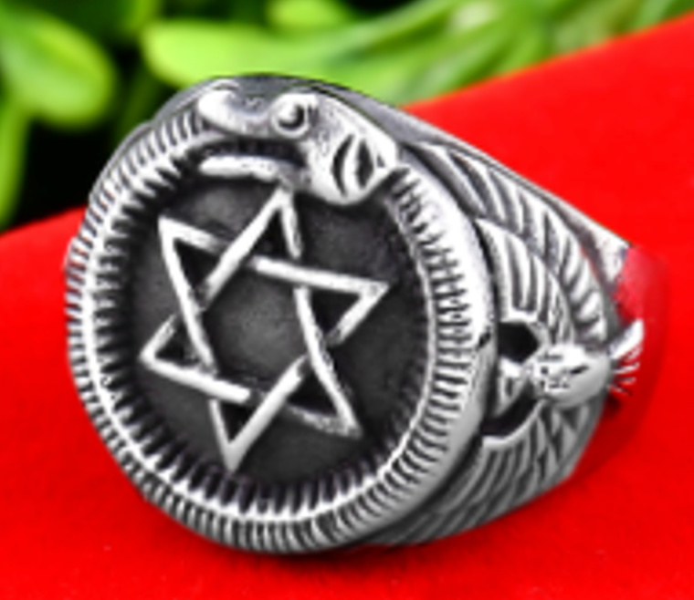 Star of David Stainless Steel Rings 316L - RAREBoutiques
