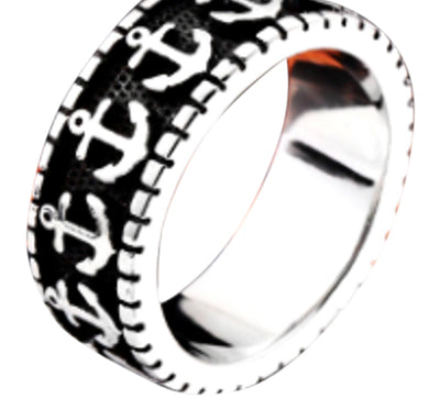 Anchor Band Stainless Steel Ring 316L
