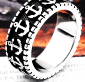 Anchor Band Stainless Steel Ring 316L - RAREBoutiques