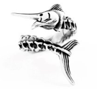 Marlin Stainless Steel Ring 316L - RAREBoutiques