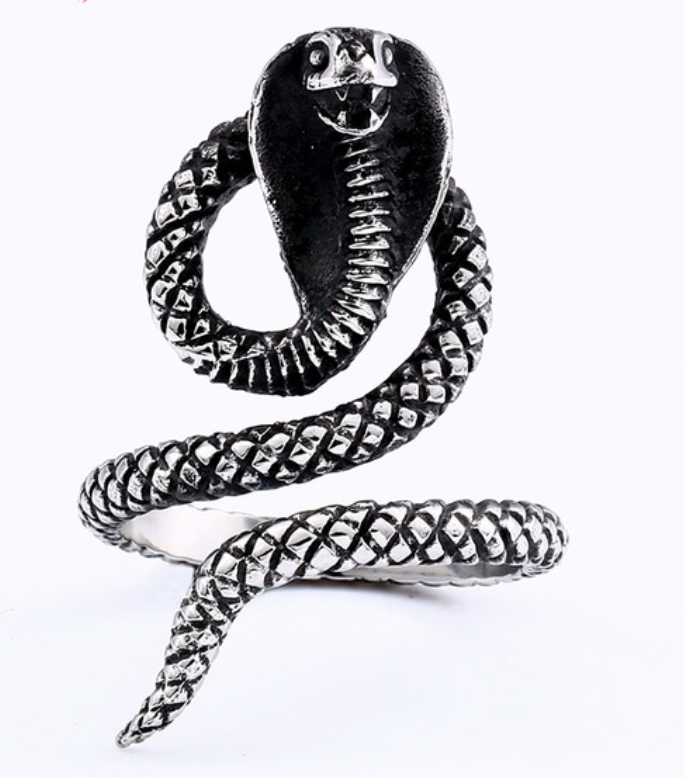 Cobra Stainless Steel Ring 316L - RAREBoutiques